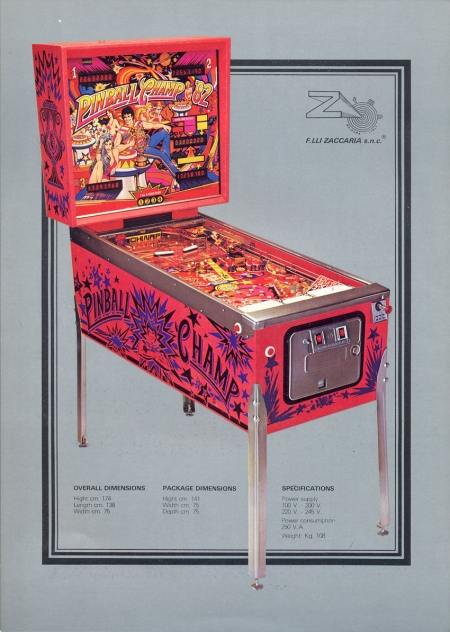 pinball champ 82 flyer